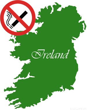 Ireland Bans smoking in public and workplace